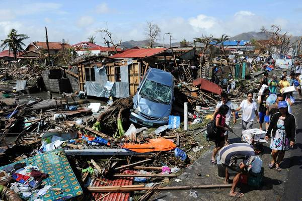 Typhoon Haiyan destroyed the homes of many innocent citizens on November 8th, 2013.