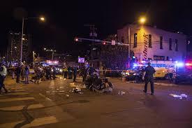 Scene after drunk driver, rips threw SxSw festival