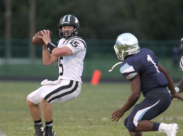 Normal West Quarterback Mitch Fairfield scanning the defense