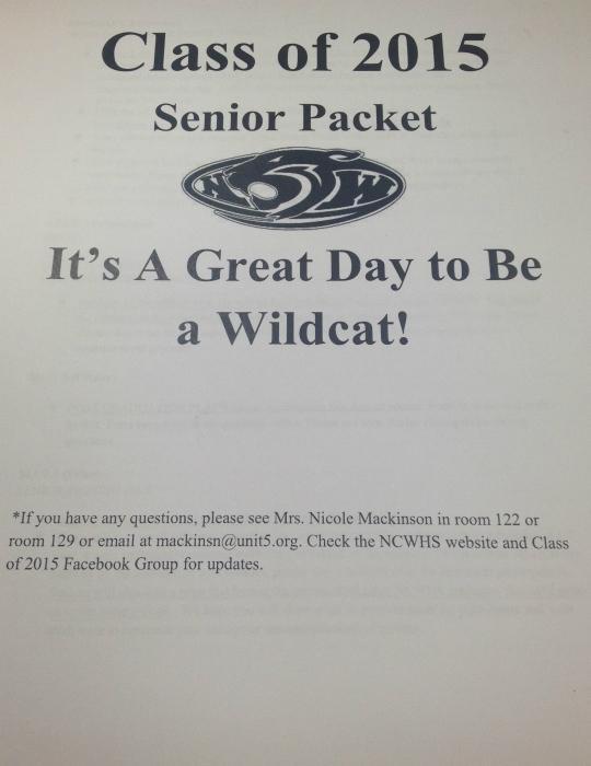 Senior packet.