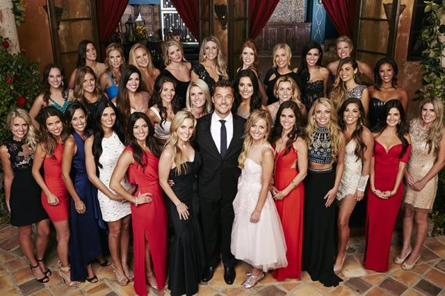 Chris Soules and all 30 of his contestants on The Bachelor.
