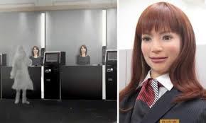 | One of Henna-na Hotel's new lifelike robot employees |