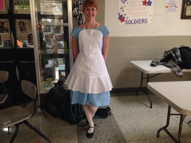 Kirsten Peterson dressed as Alice from Alice in Wonderland