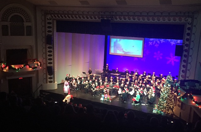 NCHS and NCWHS Wind Ensembles play together at the BCPA for their annual holiday concert.