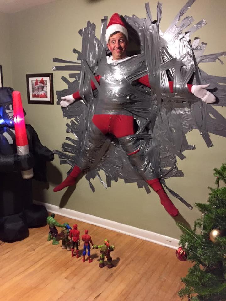 Joe Wynberg Dresses up as the Elf on the Shelf