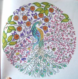 An example of a design from a coloring book.