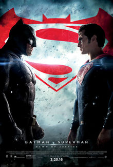 Movie poster for Batman v Superman: Dawn of Justice