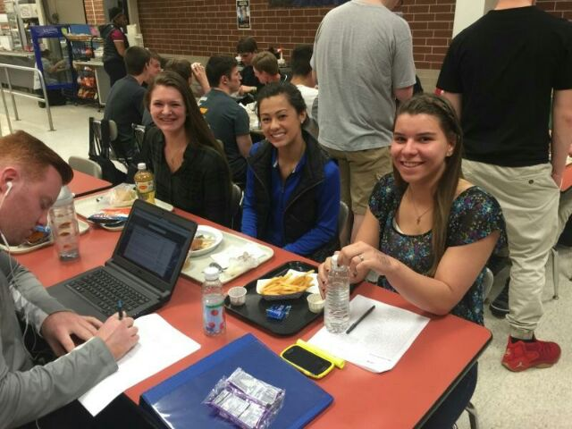Seniors Abrie Kilink, Kristi Wettstone, and Whitney Irmeger.