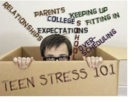 pictured here are some of the things that stress out high students the most