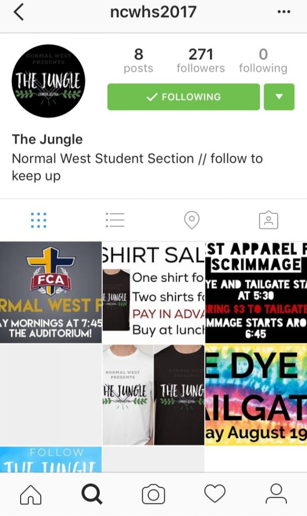 The+Instagram+page+for+the+Normal+West+student+section.%0D%0APhoto+credit%3A+Essence+Lewis