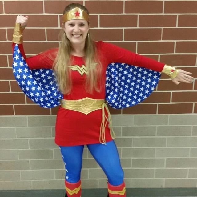 Mrs. Sharer-Barbee last year on character day for homecoming spirit week
