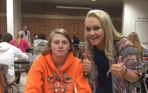 Normal West seniors, Allie Gordy (left) and Kylie Bryant (right), answer questions about their favorite Thanksgiving traditions.