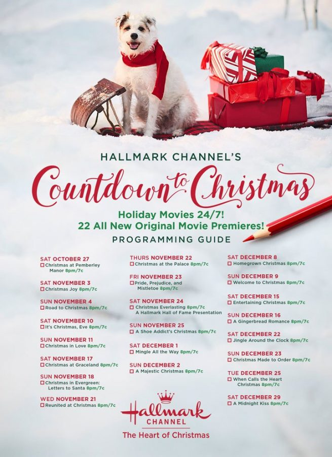 The roster of premiere dates for the Hallmark holiday movies this year. Photo form hallmarkchannel.com