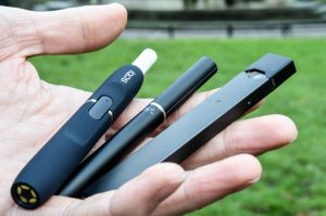 Typical vape products used by e-cigarette users.